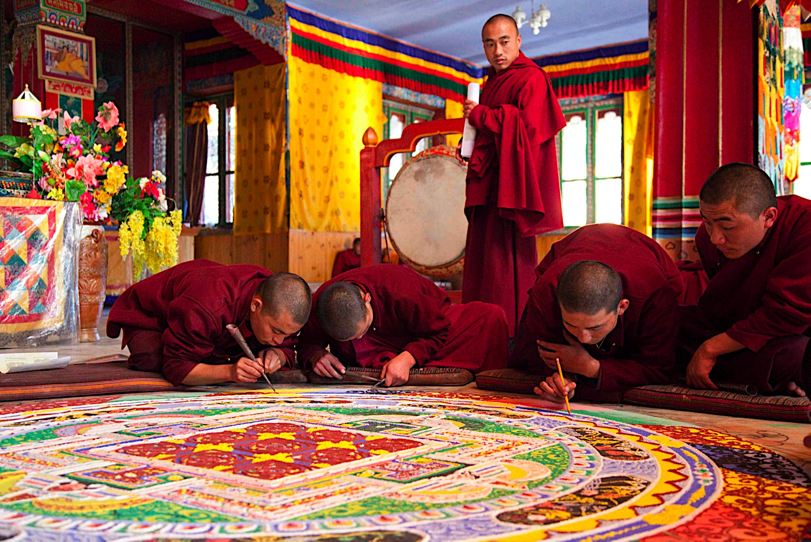 Monks Performing Mandala