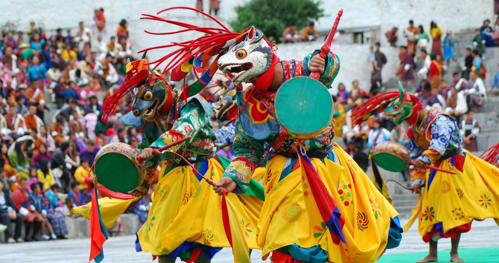 Jambay Lhakang Drup Festival in Bhutan