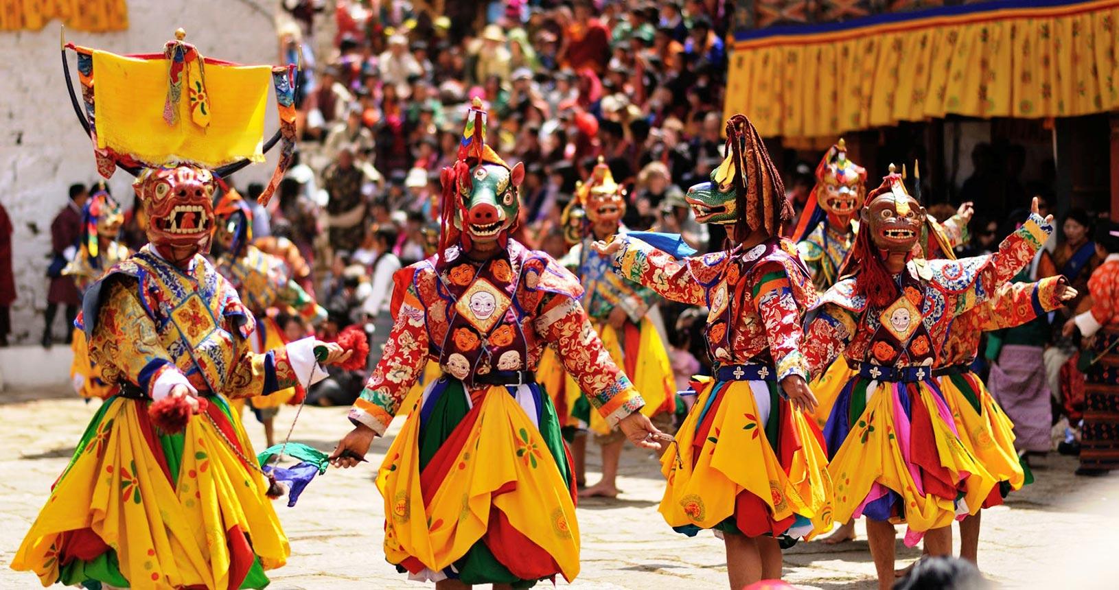 Paro Tshechu in Bhutan
