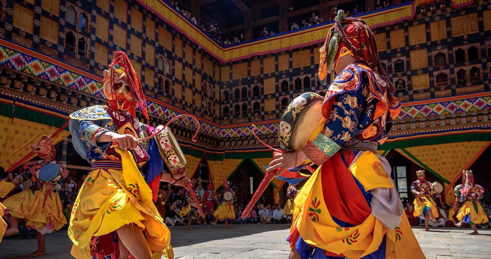 Punakha Drubchen Tshechu in Bhutan